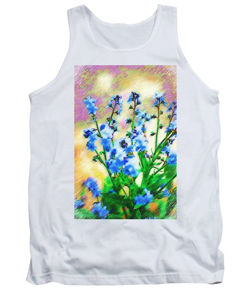 Tank Top featuring the photograph Blue Wildflowers by Donna Bentley