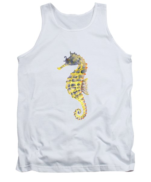Blue Yellow Seahorse - Vertical Tank Top