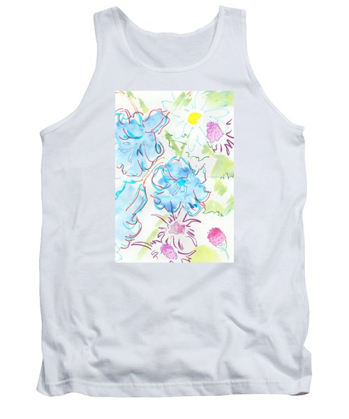 Bluebells English Wild Flowers Tank Top
