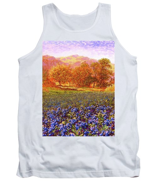 Blueberry Fields Season Of Blueberries Tank Top