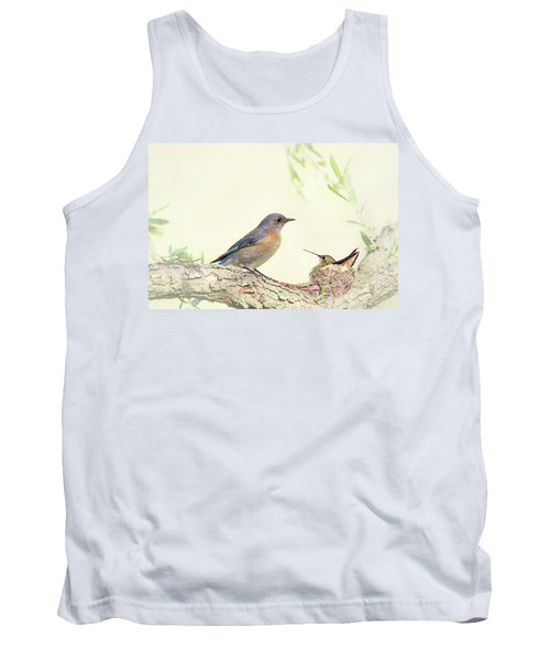 Bluebird And Baby Hummer Tank Top