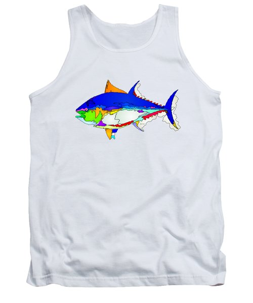 Bluefin Tuna  Tank Top by Rafael Salazar