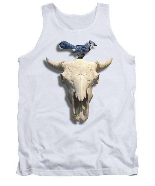 Bluejay And The Buffalo Skull Tank Top