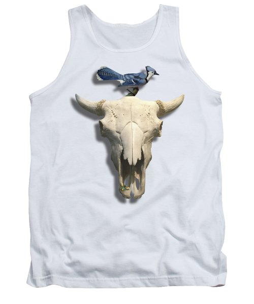 Bluejay And The Buffalo Skull Tank Top