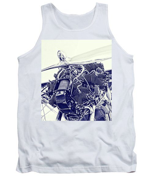 Blueprint Radial Tank Top