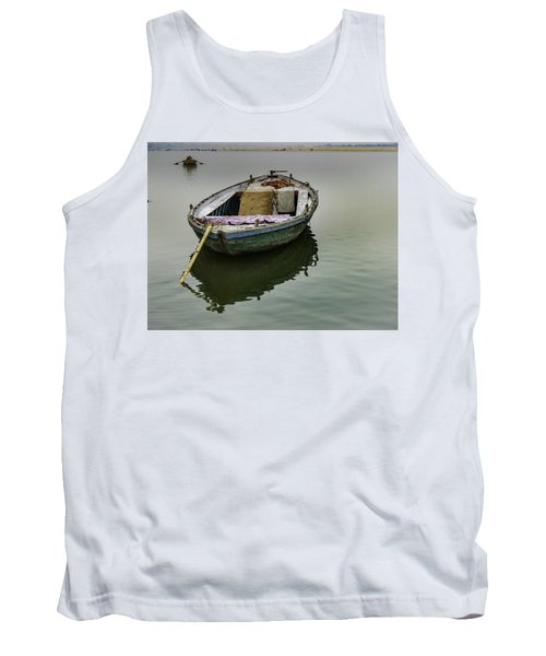 boat at Ganges Tank Top