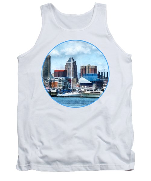 Boat - Baltimore Skyline And Harbor Tank Top