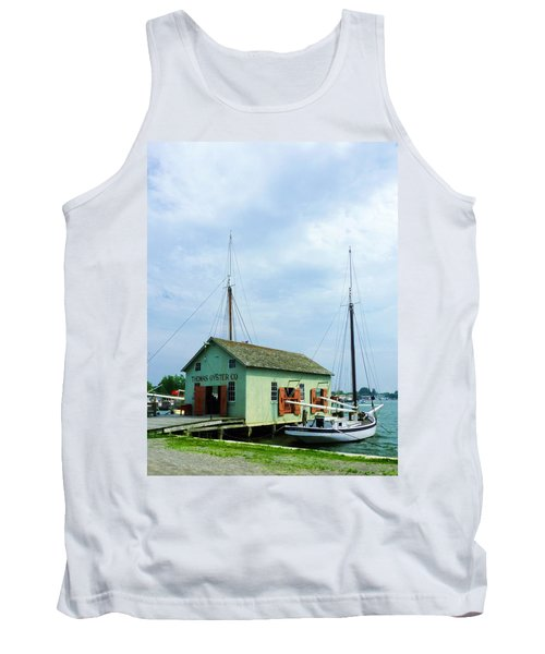 Boat By Oyster Shack Tank Top by Susan Savad