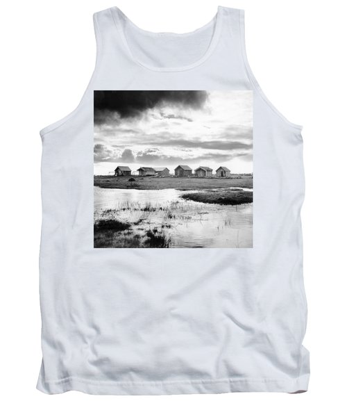 Boat Houses By The Shore In Kallahamn Harbor Tank Top