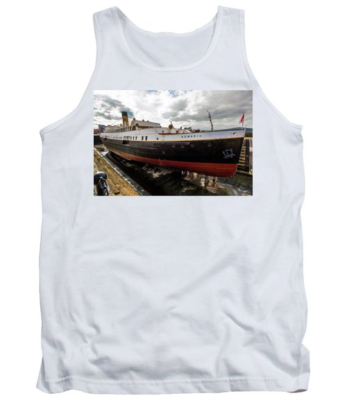 Boat In Drydock Tank Top