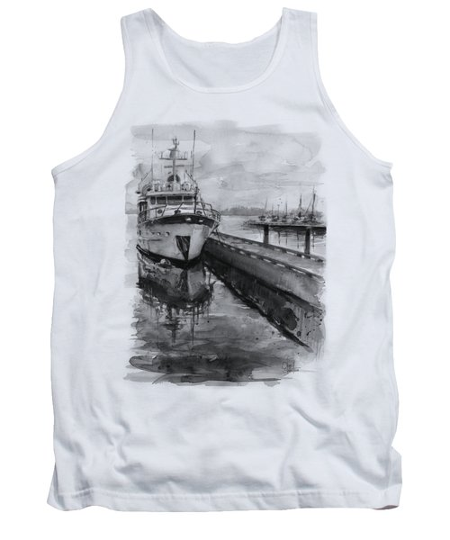 Boat On Waterfront Marina Kirkland Washington Tank Top