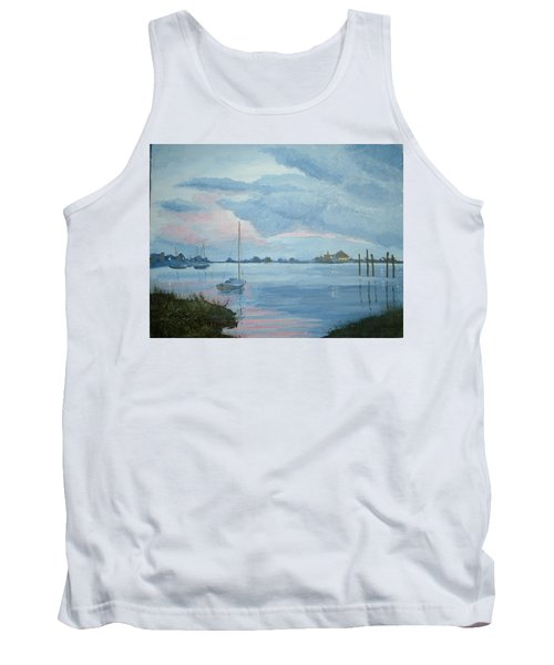 Boat Sunset Tank Top