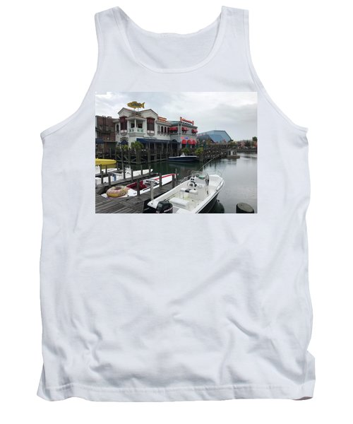 Tank Top featuring the photograph Boat Yard by Michael Albright