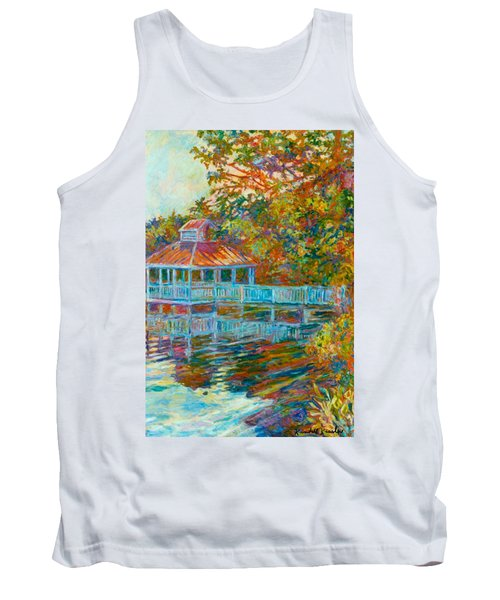 Boathouse At Mountain Lake Tank Top