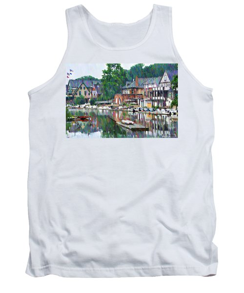 Boathouse Row In Philadelphia Tank Top