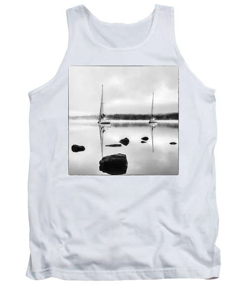 Boats On Ullswater In The Lake District Tank Top