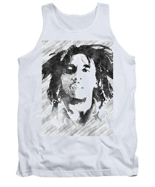 Bob Marley Bw Portrait Tank Top