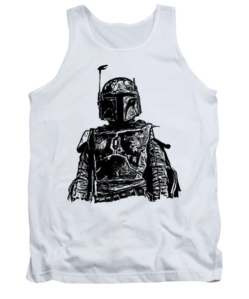 Boba Fett From The Star Wars Universe Tank Top by Edward Fielding