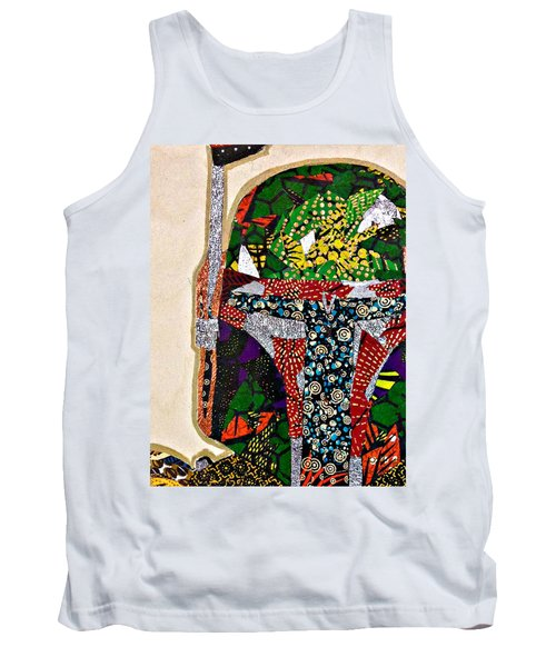 Tank Top featuring the tapestry - textile Boba Fett Star Wars Afrofuturist Collection by Apanaki Temitayo M