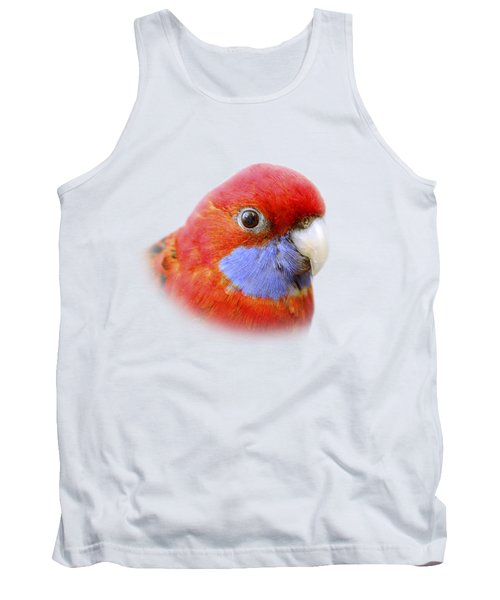 Bobby The Crimson Rosella On Transparent Background Tank Top