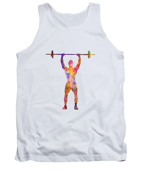 Body Buiding Man Isolated  Tank Top