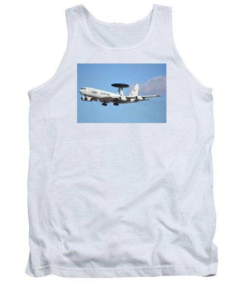 Boeing E-3b 71-1407 Sentry Phoenix Sky Harbor January 9 2015 Tank Top