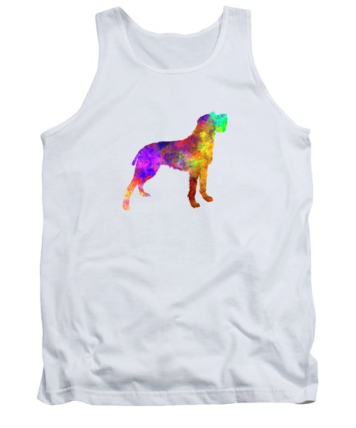 Bohemian Wirehaired Pointing Griffon In Watercolor Tank Top by Pablo Romero
