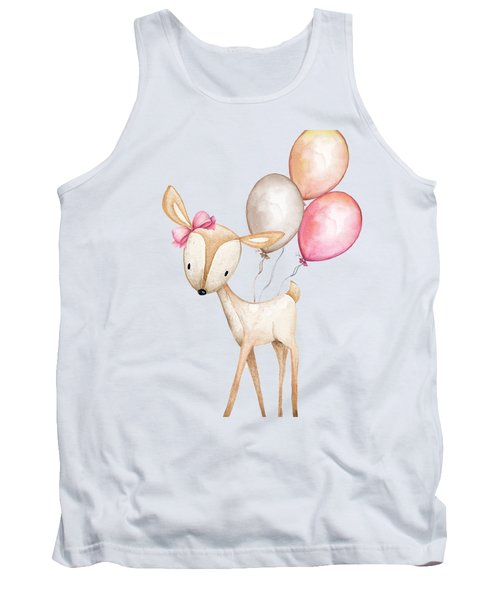 Boho Deer With Balloons Tank Top