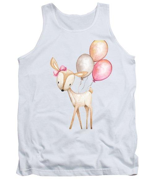 Boho Deer With Balloons Tank Top
