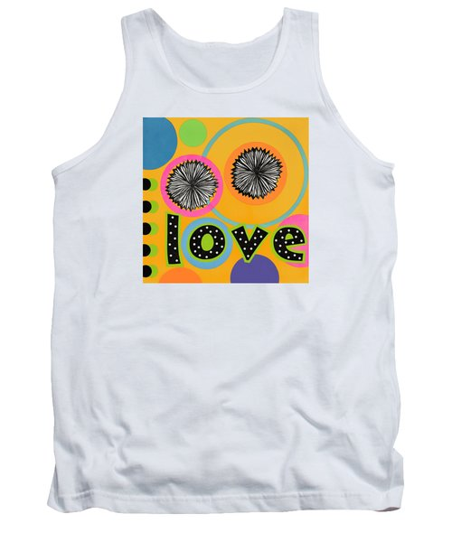 Tank Top featuring the mixed media Bold Love by Gloria Rothrock