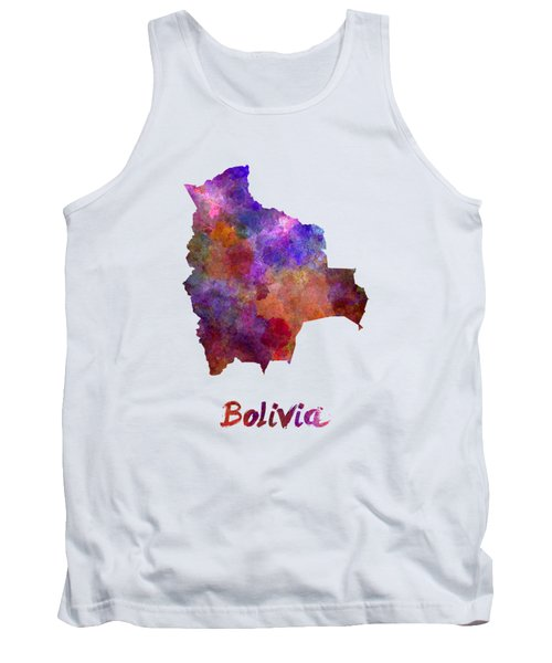Bolivia In Watercolor Tank Top