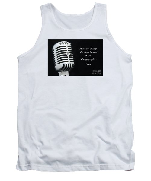 Bono On Music Tank Top by Paul Ward