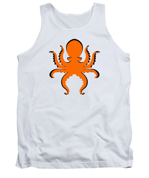Tank Top featuring the photograph Boo The Big Orange Octopus  by Edward Fielding