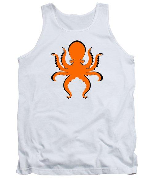 Boo The Big Orange Octopus  Tank Top