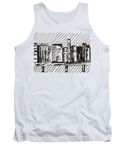 Bookshelf 1 2015 - Aceo Tank Top by Joseph A Langley