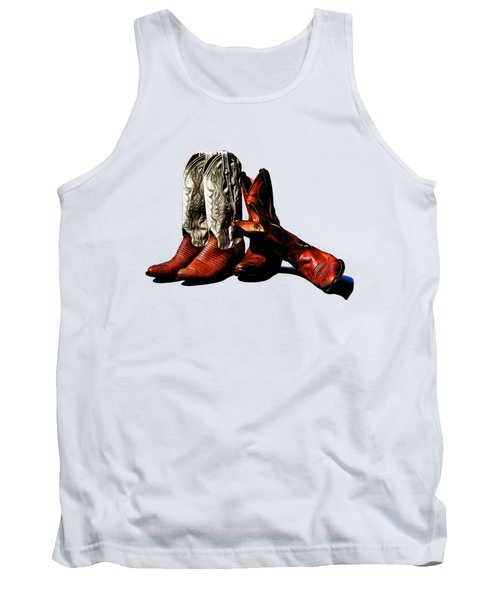 Boot Friends Cowboy Art For Tshirts Tank Top by Lesa Fine