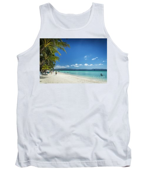 Boracay Island Tropical Coast Landscape In Philippines Tank Top