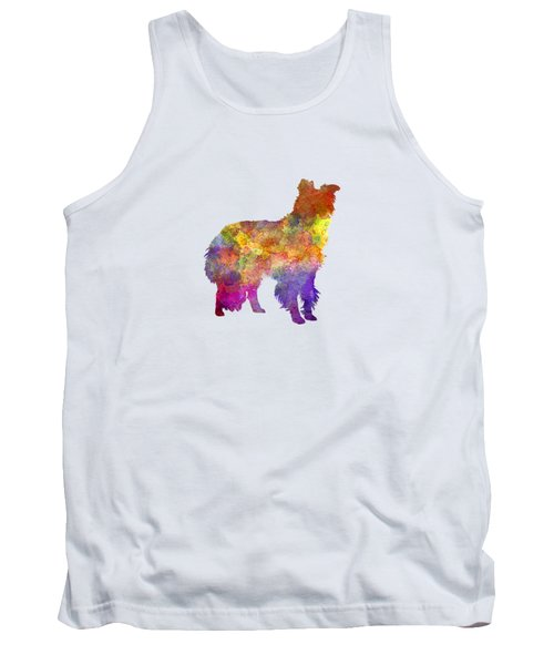Border Collie In Watercolor Tank Top