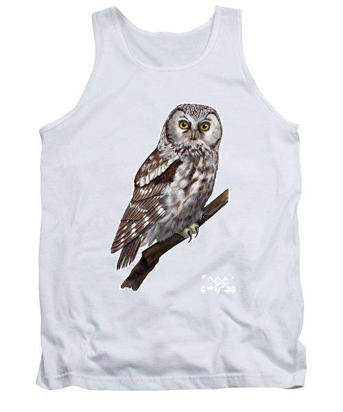 Boreal Owl Tengmalm's Owl Aegolius Funereus - Nyctale De Tengmalm - Paerluggla - Nationalpark Eifel Tank Top