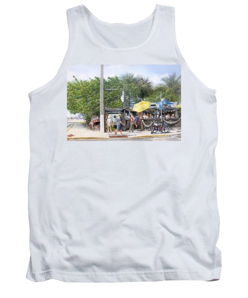 Tank Top featuring the painting Bos Fish Wagon by Bob George