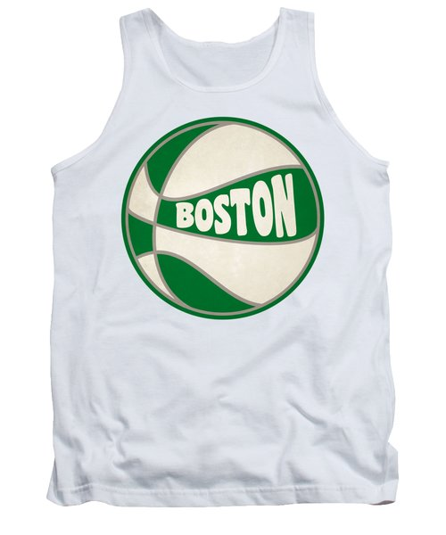 Boston Celtics Retro Shirt Tank Top by Joe Hamilton
