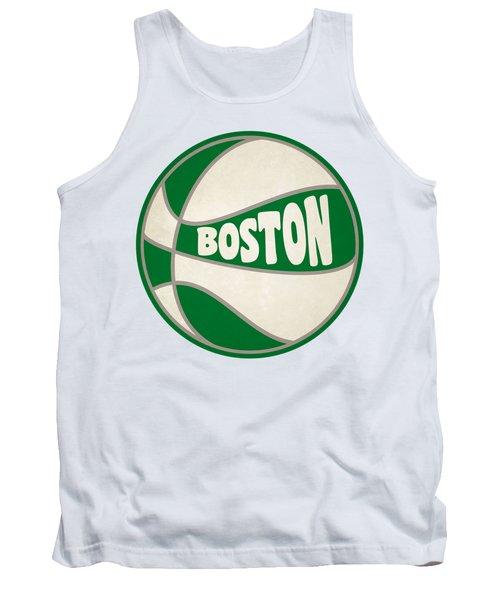 Boston Celtics Retro Shirt Tank Top by Joe Hamilton