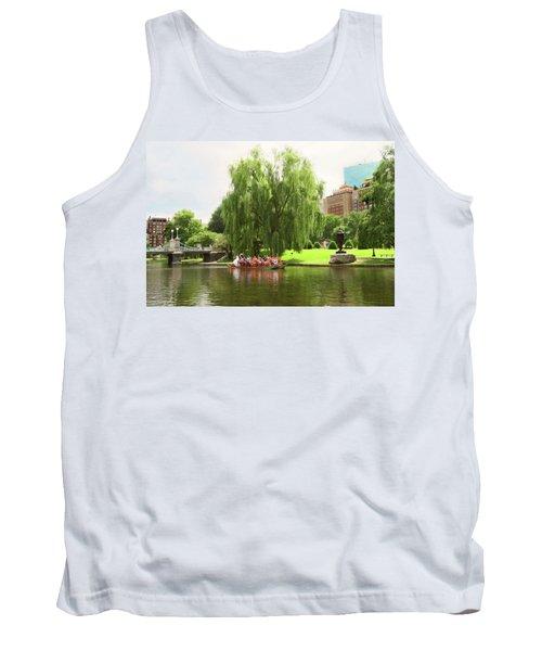 Boston Garden Swan Boat Tank Top