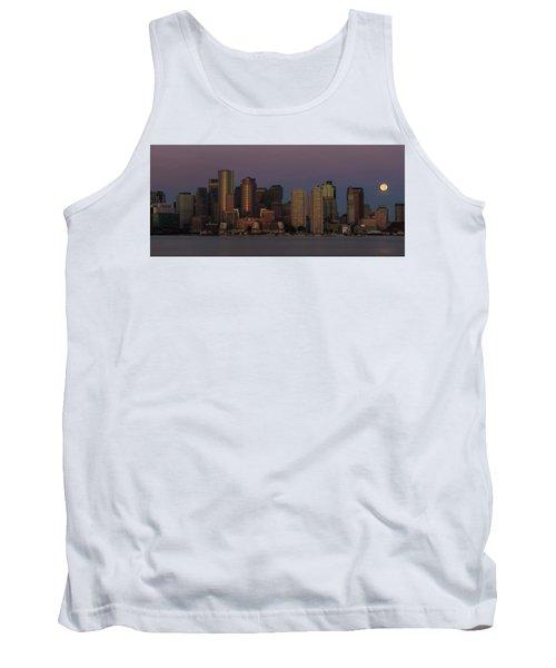 Boston Moonset And Sunrise Tank Top