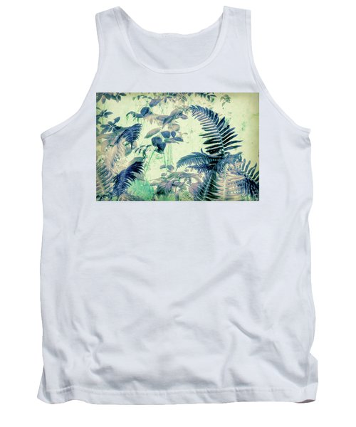 Tank Top featuring the mixed media Botanical Art - Fern by Bonnie Bruno