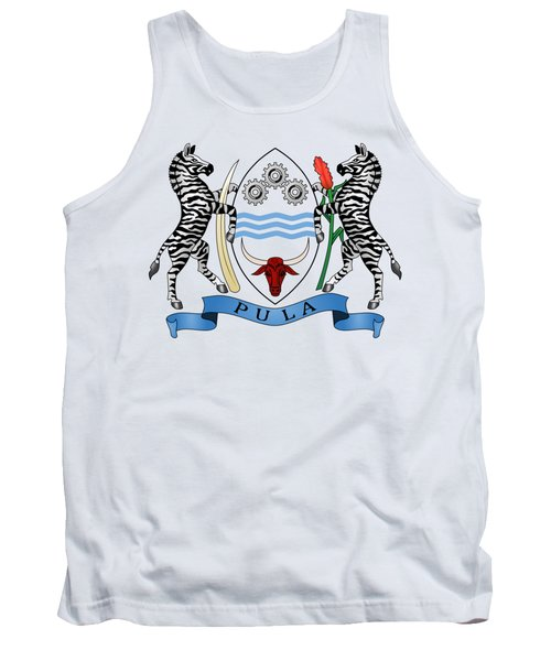 Tank Top featuring the drawing Botswana Coat Of Arms by Movie Poster Prints