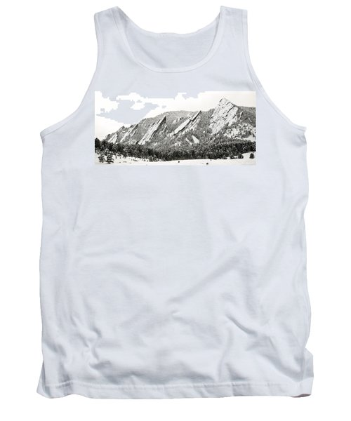 Boulder Flatirons Colorado 1 Tank Top