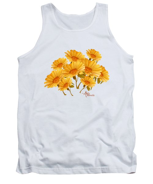 Bouquet Of Daisies Tank Top by Angeles M Pomata