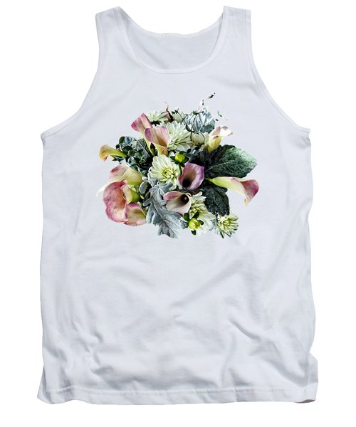 Bouquet With Pink Calla Lilies Tank Top