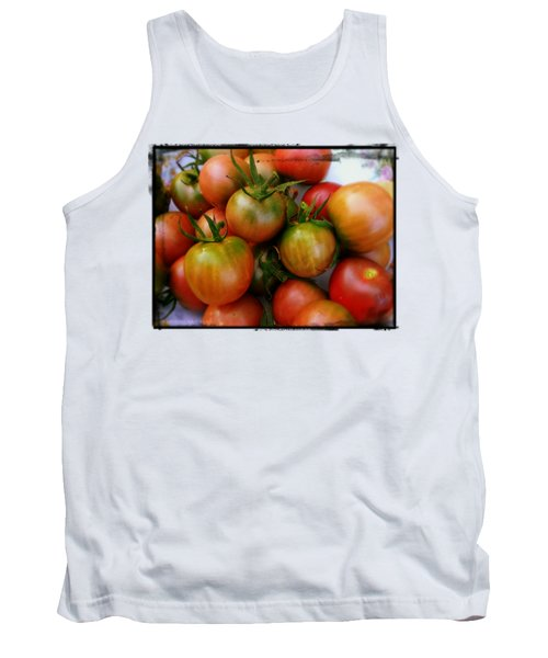 Bowl Of Heirloom Tomatoes Tank Top by Kathy Barney